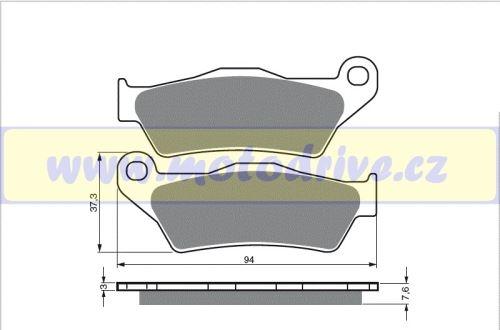 Brzdové destičky KTM SXF 450 MINO NL