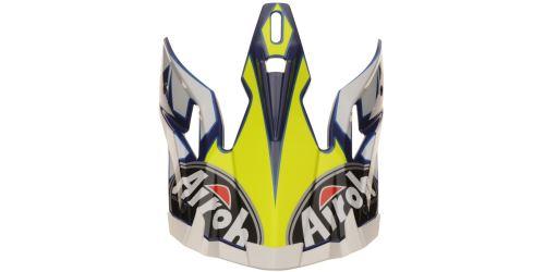 Náhradní kšilt pro přilby AVIATOR 2.2 Steady, AIROH - Itálie (žlutá/bílá/modrá)