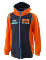 Mikina REPLICA TEAM KTM, dětská (modrá/oranžová , vel. XS)