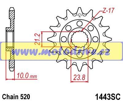 JT Řetězové kolečko Suzuki RMZ 450_2013--