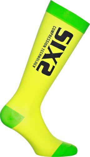 SIXS RS kompresní podkolenky žlutá/zelená