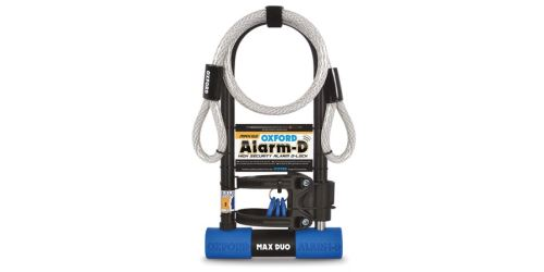Zámek U profil ALARM-D MAX DUO, OXFORD (integrovaný alarm, 306 mm x 173 mm, průměr čepu 14 mm)