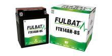Baterie 12V, YTX14AH-BS, 12Ah, 210A, bezúdržbová MF AGM 134x89x166 FULBAT (vč. balení elektrolytu)