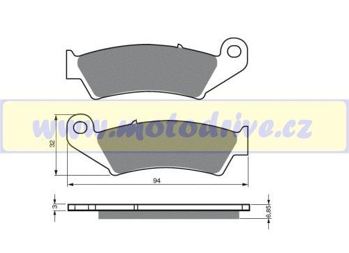 MRP Brzdové destičky Suzuki RMZ 450