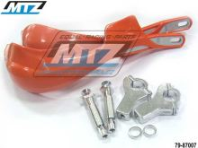 Bástry (kryty páček) PRO ALU s hliníkovou výztuhou + montážní sada 22mm - oranžový