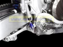 ZETA Vidlička/klema pedálu Yamaha YZF250,WRF,FX modrá WRF 2003--