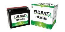 Baterie 12V, YTX20-BS, 18Ah, 270A, bezúdržbová MF AGM 175x87x155 FULBAT (vč. balení elektrolytu)