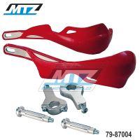 Bástry (kryty páček) PRO ALU s hliníkovou výztuhou + montážní sada 22mm - červený