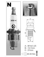 Zapalovací svíčka N14C řada Super, BRISK - Česká Republika