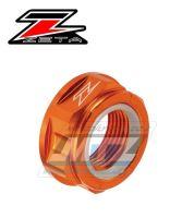 Matice osy zadního kola ZETA - oranž - Yamaha YZ125+YZ250+YZF250+YZF400+YZF426+YZF450 + WRF250+WRF400+WRF426+WRF450 + WR250X+WR250R + KTM 85SX + SX+SXF+EXC+EXCF + Husqvarna TC+FC+TE+FE+FX