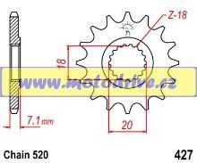 JT Řetězové kolečko Suzuki RMZ 250_2007-2012/13z