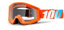 100% Dětské brýle STRATA orange (číré plexi s čepy pro slídy)