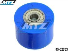 Rolna řetězu včetně ložisek (průměr 38mm / šířka 27,5mm) - modrá