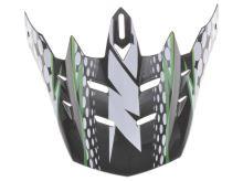 Kšilt pro přilby N729, NOX (černá/zelená)