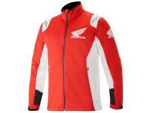 Softshellová bunda HONDA, ALPINESTARS (červená)
