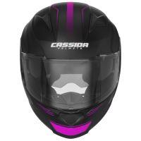 Přilba Apex Fusion, CASSIDA - ČR (černá matná/fialová/bílá, balení vč. pinlock folie)