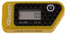 Měřič motohodin bezdrátový s nulovatelným počítadlem, Q-TECH (žlutý)