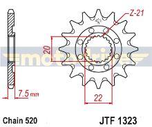 JT  Řetězové kolečko Honda CR 125_2004-2007/-14z
