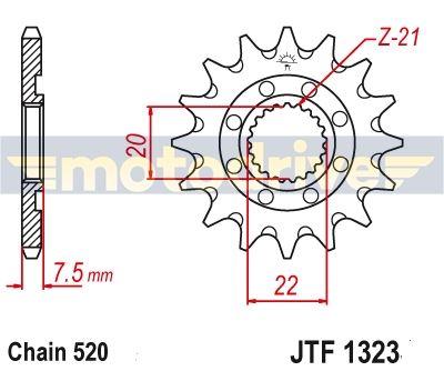 JT  Řetězové kolečko Yamaha YZ 125_2005--