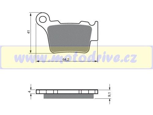 Brzdové destičky Husqvarna 250 CR, WR -MINO NL