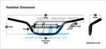 "Řidítka Renthal 99701 TwinWall (1 1/8"" = 28,6 mm) - stříbrné/titanové"