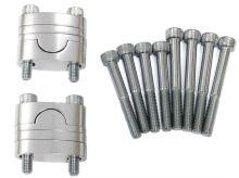 Sada vyvýšení řidítek (průměr 22mm) včetně šroubů (barva stříbrná)