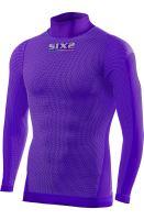 SIXS TS3L funkční odlehčené triko s dl. rukávem a rolákem fialová XS/S