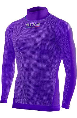 SIXS TS3L funkční odlehčené triko s dl. rukávem a rolákem fialová