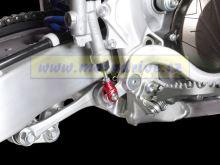 ZETA Vidlička/klema pedálu Yamaha YZF250,WRF,FX červená FX 2015--
