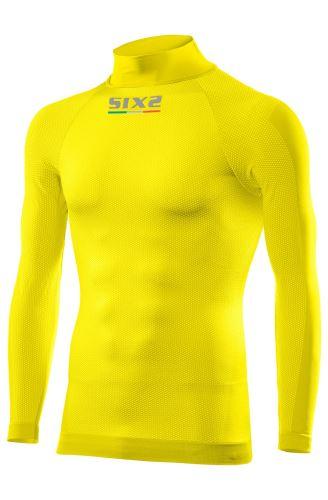 SIXS TS3 funkční tričko s dlouhým rukávem a rolákem žlutá