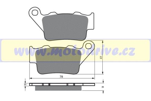 Brzdové destičky Husaberg 450 FE - E MINO NL