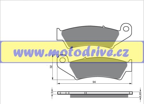 MRP Brzdové destičky Honda CRF 450