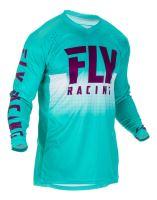 Dres LITE 2019, FLY RACING - USA (tyrkysová/fialová/bílá)