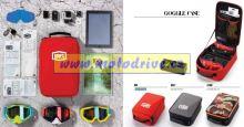 100% Polstrovaná taška na přepravu motokrosových brýlí a doplňků GOGGLE CASE fluo orange