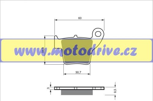 Brzdové destičky Honda CRF 450 MINO NL