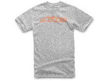 Triko BLAZE CLASSIC TEE krátký rukáv, ALPINESTARS (šedá/oranžová, vel. L)