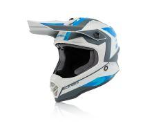 motokros přilba Acerbis Junior Steel modrá/šedá 52