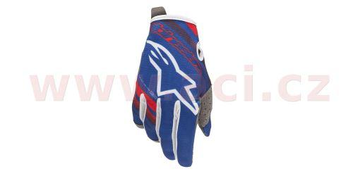 Rukavice RADAR, ALPINESTARS (modrá/červená/bílá , vel. S)