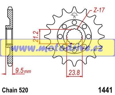 JT Řetězové kolečko Suzuki RMZ 450_2005-2012