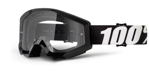 Brýle Strata Outlaw, 100% (čiré plexi s čepy pro slídy)