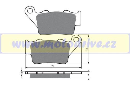 Brzdové destičky Husaberg 550 FS -MINO NL