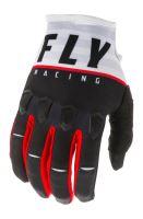 Rukavice KINETIC K120 2020, FLY RACING - USA (černá/bílá/červená)