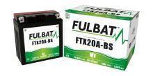 Baterie 12V, YTX20A-BS, 18Ah, 230A, bezúdržbová MF AGM 150x87x161 FULBAT (vč. balení elektrolytu)