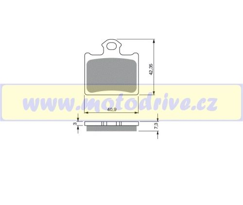 Brzdové destičky KTM SX 85 MINO NL