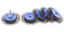 Turbo ježek - drátěný kotouč pro odstanění silných vrstev laku, ochrany podvozku 5 ks + 1 nástavec na vrtačku
