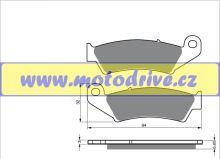 Brzdové destičky Honda CRF 450 MINO NL přední 2002--