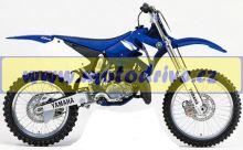 UFO PLAST Sada plastů Yamaha YZ 125 2002-2005 YZ-Bílá