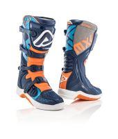 ACERBIS motokrosové boty X Team modrá/oranž 44