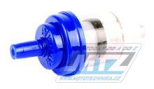 """Filtr palivový/benzínový - průměr 1/4"""" (6mm) - plastový - modrý"""