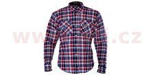 Košile KICKBACK CHECKER s Kevlar® podšívkou, OXFORD (červená/modrá)
